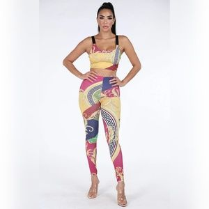 Printed top & legging set